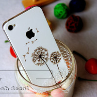 Dandelion spring iPhone 4s Decal iphone 4 Stickers iPhone 5 Decals Apple Decal for Macbook Pro / Macbook Air  / iPhone 4