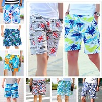 Men's beach pants swimming pants outdoor sports pants Beach  Swimming shorts swim shorts swimming trunks Color random