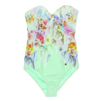 Ted Baker Womens Balconet Underwire One-Piece Swimsuit