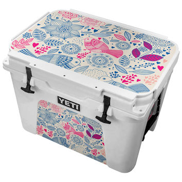 Vintage Birds With Hearts Skin for the Yeti Tundra Cooler