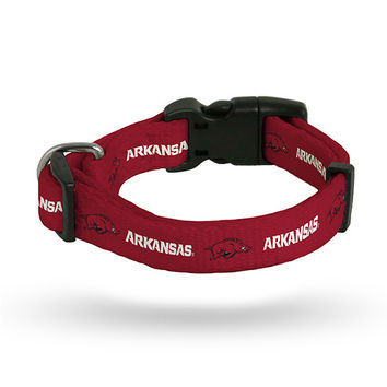 ARKANSAS UNIVERSITY PET COLLAR - SMALL
