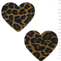 Heart Pasties in Leopard