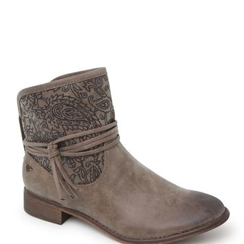 Roxy Carrington Embossed Boots - Womens Boots - Brown