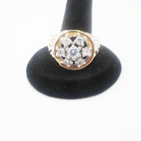 Diamond Cut Firework Gold Ring