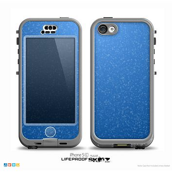 The Blue Subtle Speckles Skin for the iPhone 5c nüüd LifeProof Case