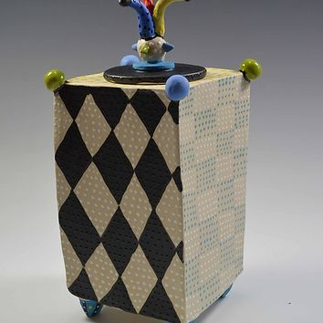 Jester Box by Vaughan Nelson (Ceramic Box) | Artful Home