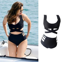 Plus Size High Waist Push Up Swimwear bathing suit