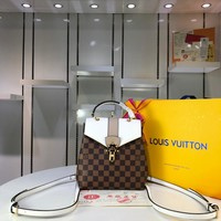 Kuyou Lv Louis Vuitton Fashion Women Men Gb29610 N42262 Damier Ebene Comes In All Kinds Of Styles Clapton Backpack 21.0 X 21.0 X 11.0 Cm