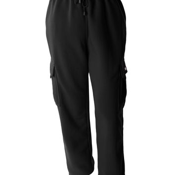 Mens Athletic Basic Fleece Cargo Jogger Pants