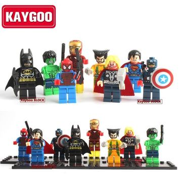 Deadpool Dead pool Taco Classic Super Heroes Movie Figures Ironman Batman  Thor Building Blocks Small Figures Flash Joker Kids Toy Gift AT_70_6
