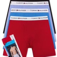 Tommy Hilfiger 3 pack+1 Bonus Pair Cotton Boxer Briefs - 09TE009 | macys.com