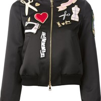 Moschino Cheap & Chic patch bomber jacket