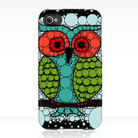 iPhone or iPod Case OWL Uncommon Slider Case teal aqua blue green red black iPhone 5 4/4s 3GS iPod