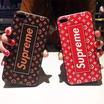 Supreme luxury brand matte TPU plastic case skin cover new 2017 for iPhone 7