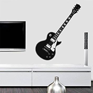 Wall Decal Vinyl Sticker Decals Art Decor Design Guitar Electro Music Live Band Rock Star Pattern Damask Mans Gift Bedroom Dorm (r453)