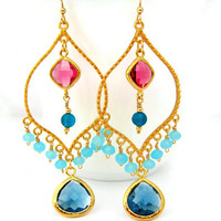 Bollywood Bling Chandelier Earrings Fall Trends