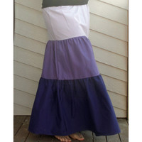 Long Tiered Skirt in Shades of Purple  S/M/L by PhreshThreadz