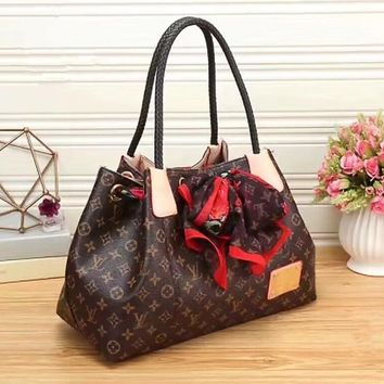 One-nice™ LV Women Shopping Leather Handbag Tote Satchel Shoulder Bag