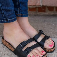 Beach Therapy Sandals - Black