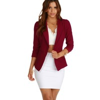 Burgundy Miss Boss Blazer