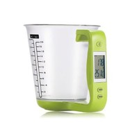 Digital Measuring Cup Liquid Scale 1000g/0.1g High Accuracy Kitchen Food Detachable Jug Scale, Multifunction Cooking Scale for Diet Health Fitness (Green)