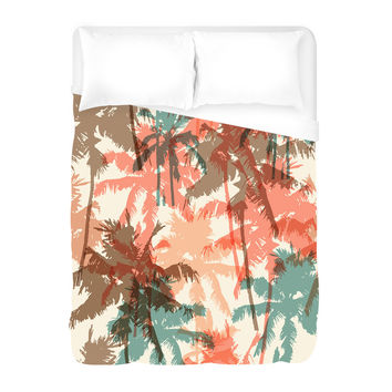 Summer Palm Trees Duvet Cover