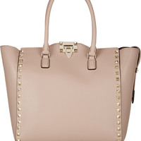 Valentino - The Rockstud medium leather trapeze bag