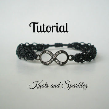 Macrame Bracelet tutorial- Beaded Macrame pattern