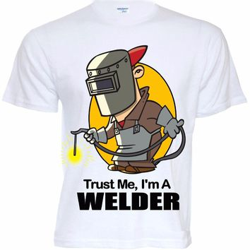T Shirts Fashion 2018 Fitted T Shirtsmens Funny Cool Novelty Welder Job T-Shirts Joke Gifts Presents Ideas Tee Shirts