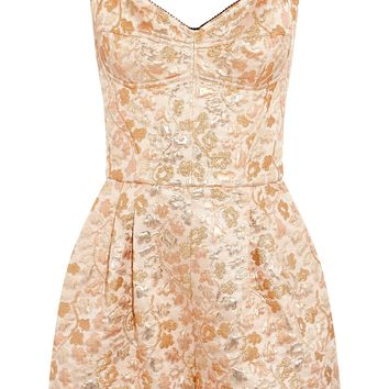 Metallic jacquard playsuit | DOLCE & GABBANA | Sale up to 70% off | THE OUTNET