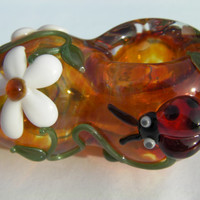 Glass pipe          Smellin the Flowers !!!