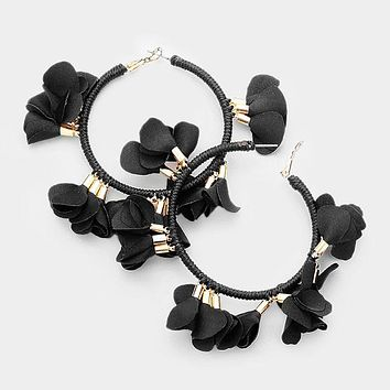 Large Floral Fabric Hoops