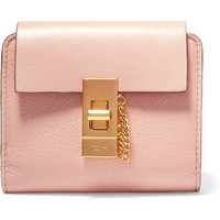 Chloé - Drew small textured-leather wallet
