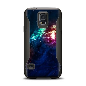 The Glowing Colorful Space Scene Samsung Galaxy S5 Otterbox Commuter Case Skin Set