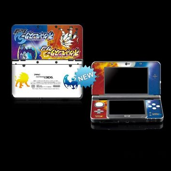 Protective Skin Sticker for  Sun & Moon Nintendo NEW 3DS Vinyl Cover Decal Skin StickersKawaii Pokemon go  AT_89_9