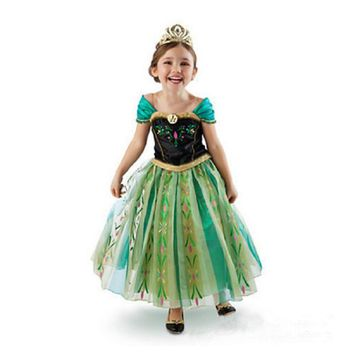 Elsa Dress Rapunzel Christmas Costume Girl Cinderella Anna Elza Dress Girls Snow Quee Costumes Summer Party Dresses For Kids