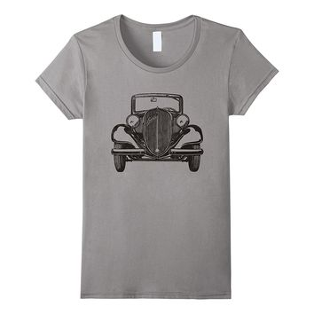 Love Vintage Classic Car T-Shirt Automotive Nerd Gift Tee