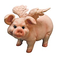 SheilaShrubs.com: Hog Heaven Flying Pigs Statue Collection - Standing QL57203 by Design Toscano: Garden Sculptures & Statues