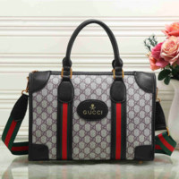 GUCCI  Women Shopping Leather Tote Handbag Shoulder Bag