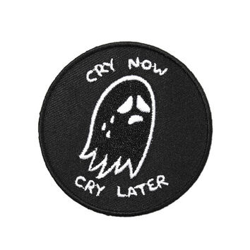 Cry Now, Cry Later Patch - Black
