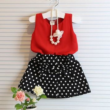 Sleeveless Baby Girl Summer Party Set