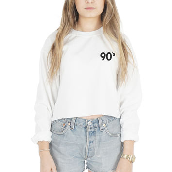 90's Pocket Crop Sweater
