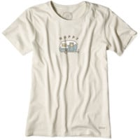 Women's Happy Camper Crusher Tee|Life is good
