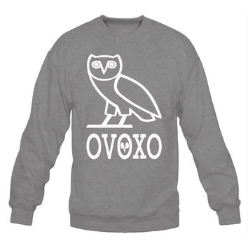 OVO Owl Drake - grey white October's Very Own Crew Neck Unisex Sweatshirt Adult Sizes S-3XL