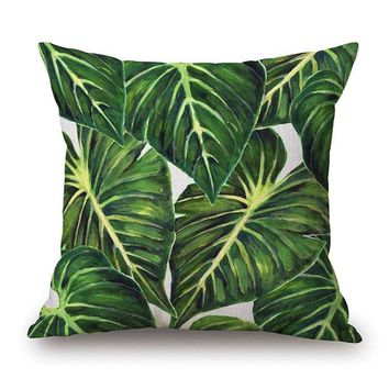 African Nature Cushion Covers - 43x43cm (Leaf 3)