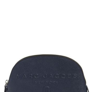 MARC JACOBS Logo Embossed Leather Cosmetics Bag | Nordstrom