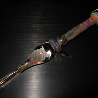 Anti-roll thorn and marble top glass dabber #12