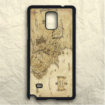 Movie Lord Of The Ring Vintage Epic Middle Earth Map Samsung Galaxy Note 3 Case