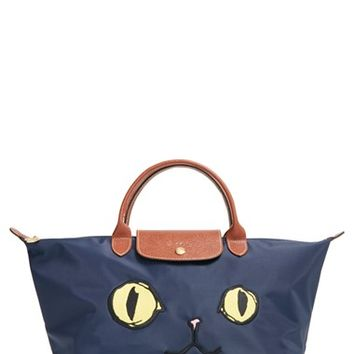 Longchamp 'Medium Le Pliage Miaou' Handbag - Blue