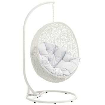 Hide Outdoor Hanging Patio Swing Chair With Stand